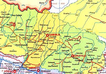 Лезгины  Место проживания Lezgin1_map